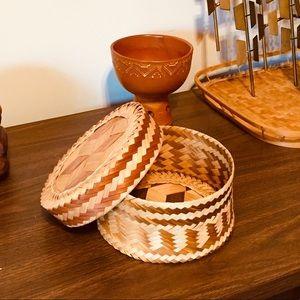 Wicker Trinkets Basket